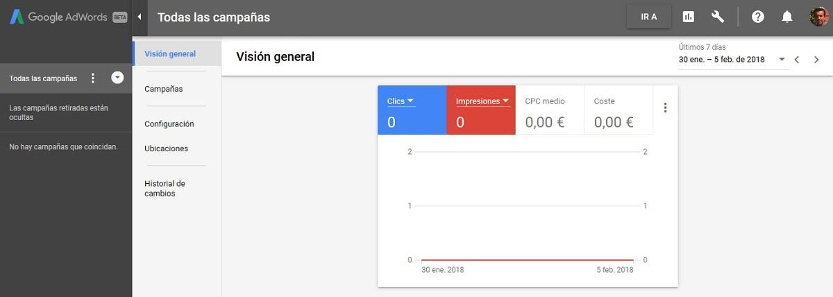 nueva experiencia de google adwords