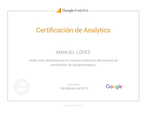 Google Analytics Certificate partners