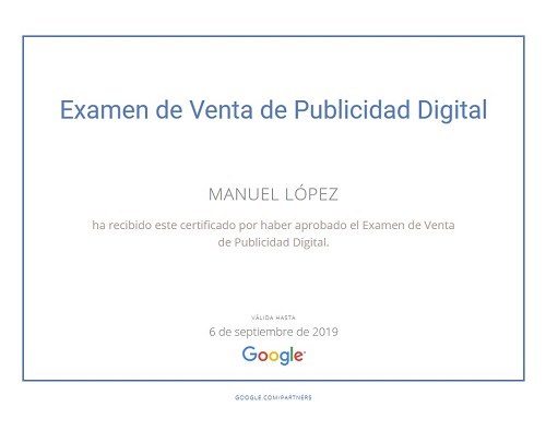 Google digital sales Certificate