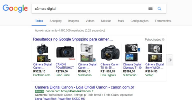 anuncios google shopping