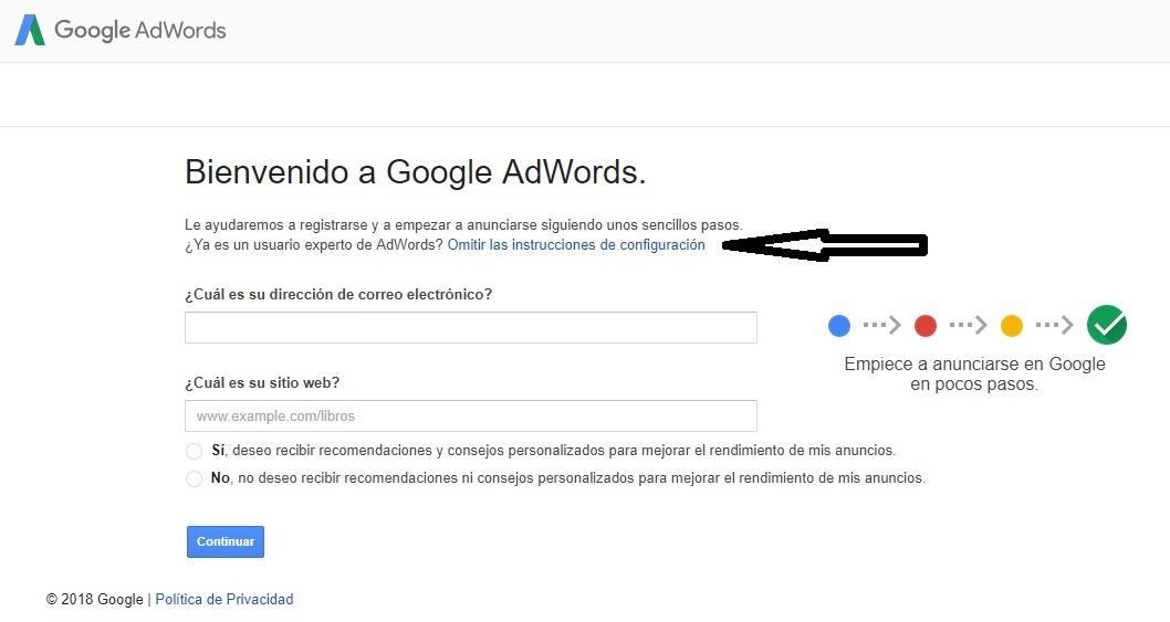 bienvenido a google adwords