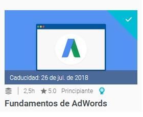 certificacion de fundamentos de adwords