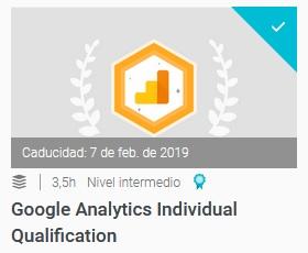certificacion de google analytics