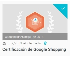 certificacion de google shopping