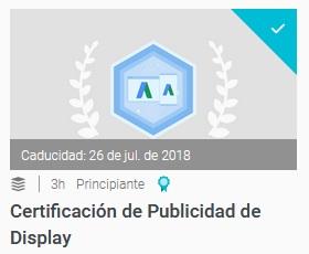 certificacion de publicidad de display