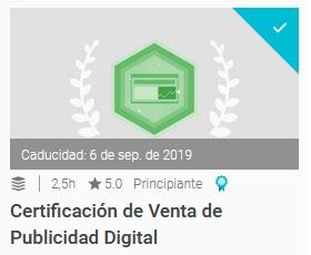 certificacion de venta de publicidad digital