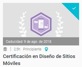 certificacion en diseño de sitios moviles