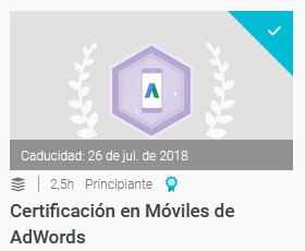certificacion en moviles de adwords