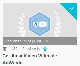 certificacion en video de adwords