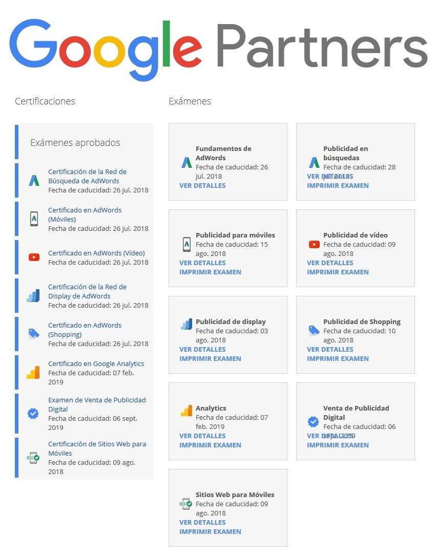 certificaciones google partners