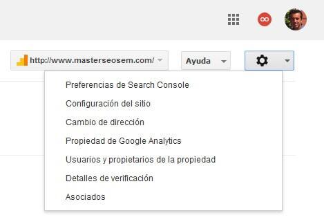 configuracion de google search console