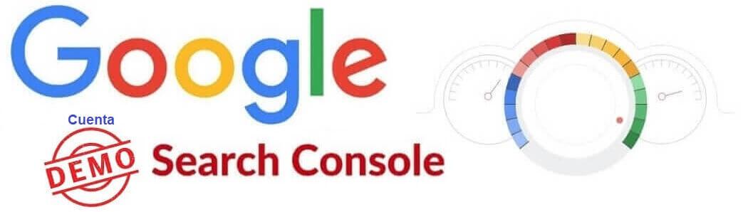 cuenta de demostracion de google search console