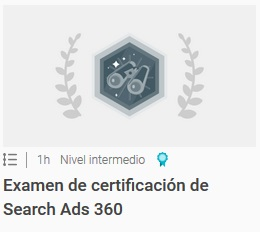 Examen de certificación de Search Ads 360
