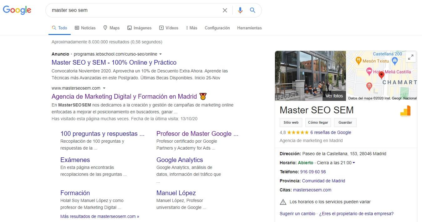 google seo local