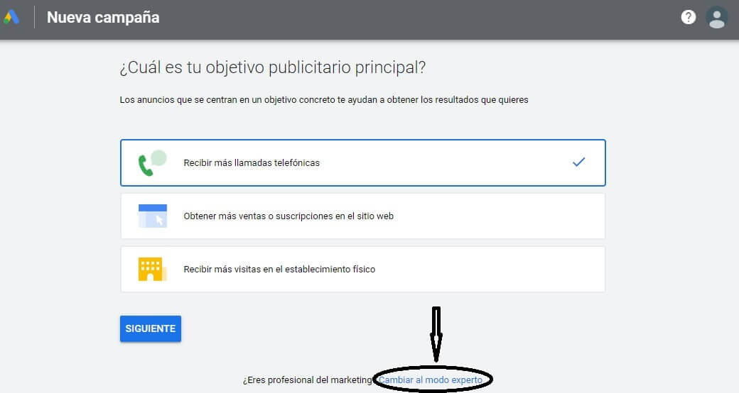 guia google ads acceder sin tarjeta