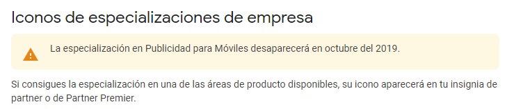 iconos especializaciones empresa publicidad moviles desaparece