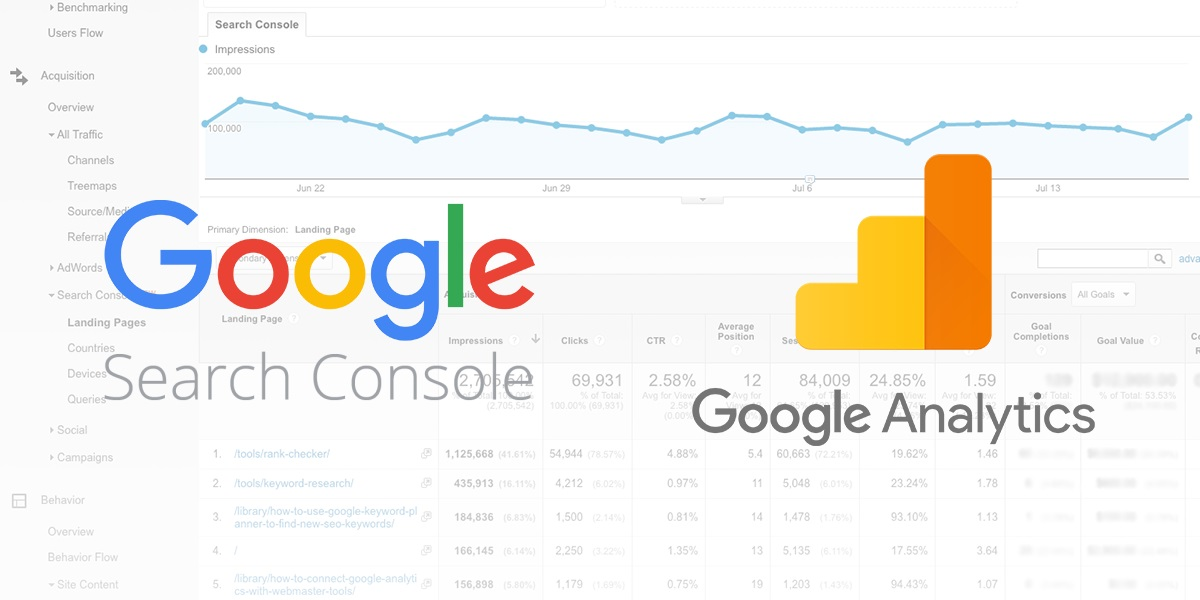 sincroniza search console y google analytics