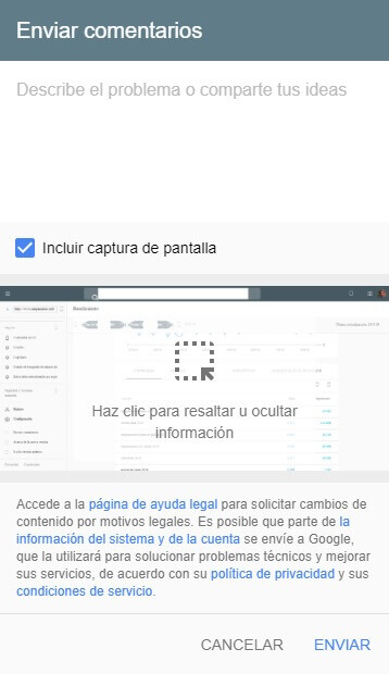 tutorial google search console enviar comentarios