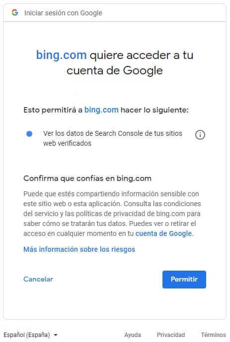 tutorial google search console importar a bing webmasters tools cuenta acceder
