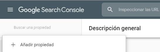 tutorial search console añadir propiedad