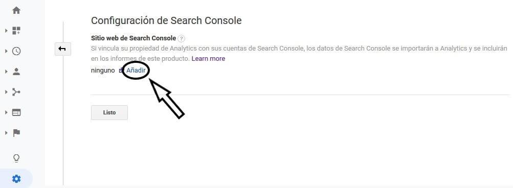tutorial search console configuracion analytics