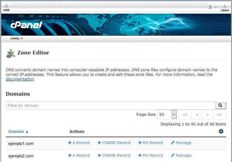 tutorial search console cpanel zone editor