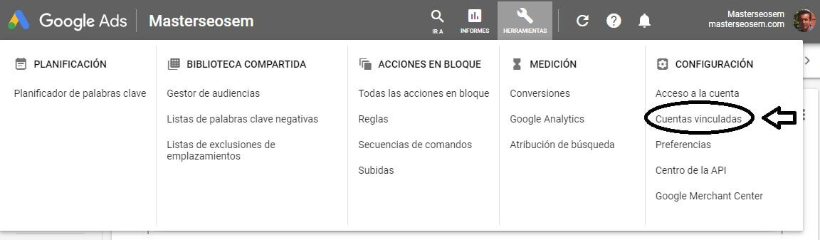 tutorial search console pasos vincular google ads