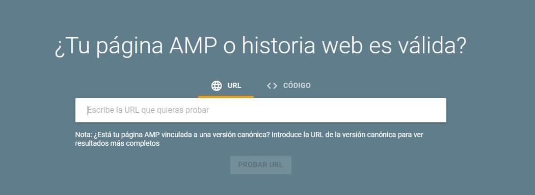 tutorial search console prueba amp