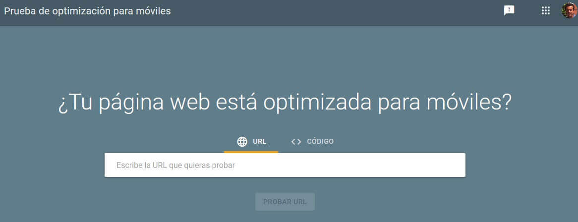 tutorial search console prueba optimizacion para moviles