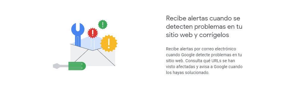 tutorial search console recibe alertas de problemas en tu web y corrigelos