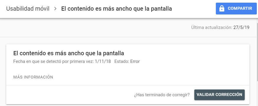tutorial search console validar correccion usabilidad movil