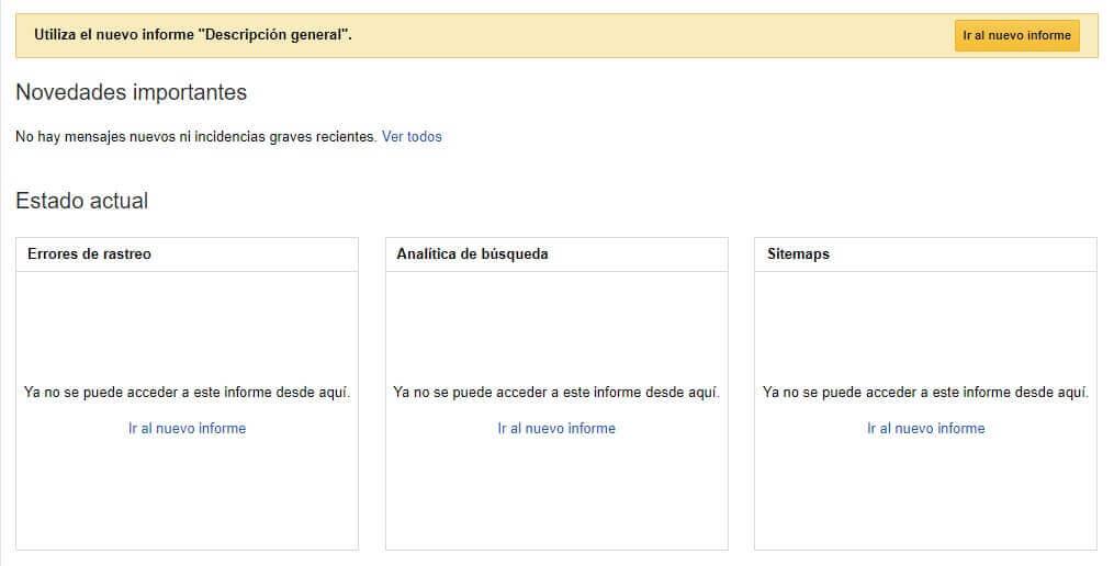 tutorial search console version anterior