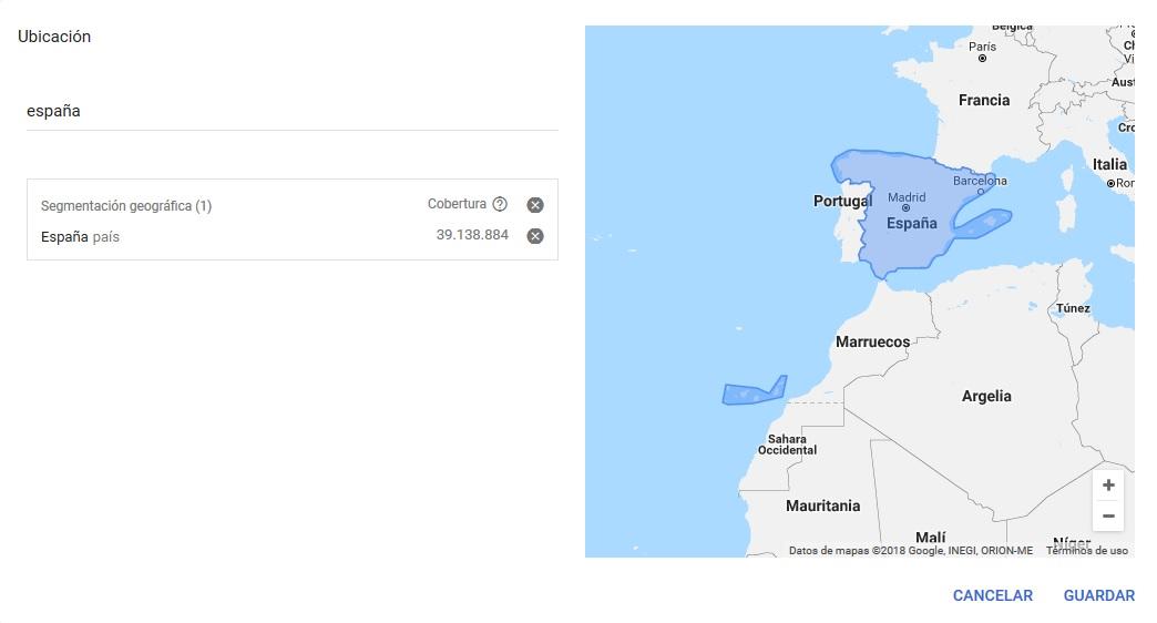 ubicaciones keyword planner
